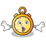 Surprised chronometer character cartoon style Stock Photos
