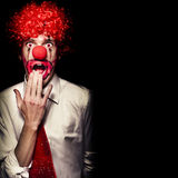 Surprised Clown Isolated Over A Black Background Stock Photos