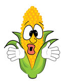 Surprised corn cartoon Stock Image