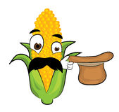 Surprised corn cartoon Stock Photos