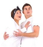Surprised couple Royalty Free Stock Photography