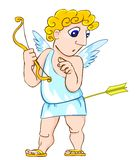 Surprised cupid Stock Images