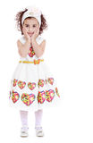 Surprised curly girl Royalty Free Stock Photo
