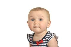 Surprised cute baby Stock Photo