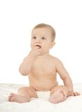 Surprised cute baby Stock Images