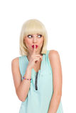 Surprised cute blond girl looking away Royalty Free Stock Photo