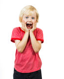 Surprised cute boy Royalty Free Stock Photography