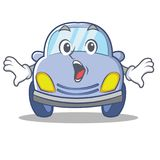 Surprised cute car character cartoon Royalty Free Stock Photos