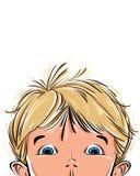 Surprised cute little boy. Stock Photos