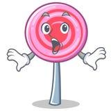 Surprised cute lollipop character cartoon. Vector illustration Stock Photo