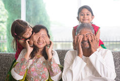 Surprised for dad and mum Stock Images