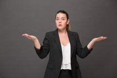 Surprised and disappointed businesswoman Royalty Free Stock Photography