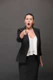 Surprised and disappointed businesswoman Stock Image