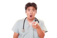Surprised doctor royalty free stock images