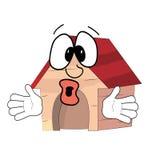 Surprised dog house Stock Image