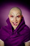Surprised drag queen portrait Stock Images