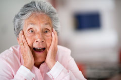 Surprised elder woman Royalty Free Stock Images