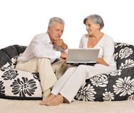 Surprised elderly couple Royalty Free Stock Images