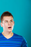 Surprised embarrassed man face Royalty Free Stock Image