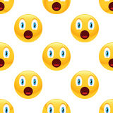 Surprised emoticon pattern Royalty Free Stock Photos