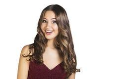 Surprised excitó al adolescente de la sonrisa Fotos de archivo libres de regalías