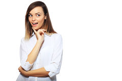 Surprised excited woman Royalty Free Stock Images