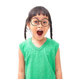 Surprised face. Asian little girl with surprised face stock images