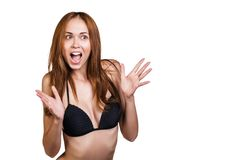 Surprised face Stock Photography