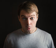Surprised face. Stock Photos