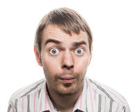 Surprised face. Royalty Free Stock Images