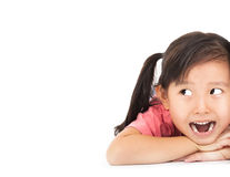 Surprised face of little girl Royalty Free Stock Image