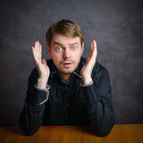 Surprised face. Royalty Free Stock Photography