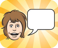 Surprised face with speech bubble. Vector illustration of Surprised face with speech bubble. Easy-edit layered vector EPS10 file scalable to any size without Royalty Free Stock Photos