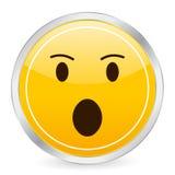 Surprised face yellow circle i Royalty Free Stock Image