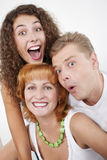 Surprised family Stock Photo