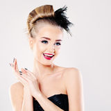 Surprised Fashion Model Woman Royalty Free Stock Photos