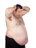 Surprised fat man Royalty Free Stock Photography