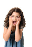 Surprised female child Stock Images