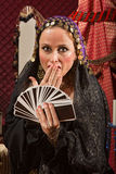 Surprised Female Fortune Teller Royalty Free Stock Photo