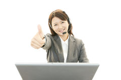 Surprised female office worker Stock Photo