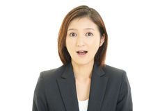 Surprised female office worker Stock Photography