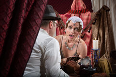Surprised Fortune Teller Royalty Free Stock Photography