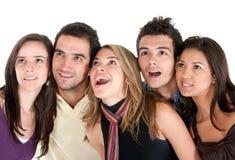 Surprised friends Stock Photo