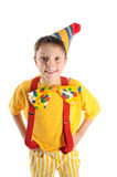 Surprised funny boy. Astonished boy dressed for birthday party Royalty Free Stock Photography