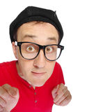 Surprised, funny face. Royalty Free Stock Images
