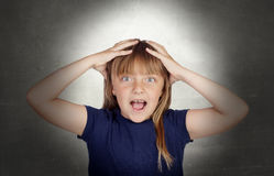 Surprised funny girl Stock Photography
