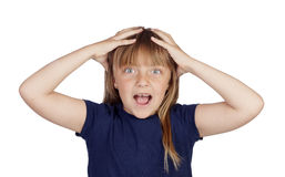 Surprised funny girl Stock Image