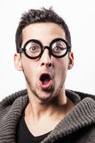 Surprised geek Royalty Free Stock Images