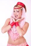 Surprised genie Stock Photo