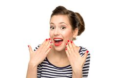 Surprised girl Royalty Free Stock Photos